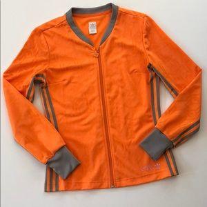 Adidas Orange Zip Up Track Jacket